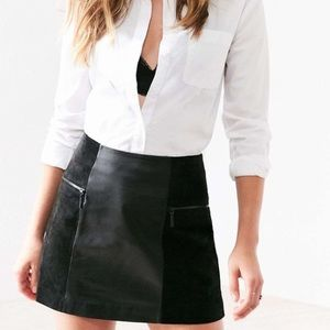 Urban Outfitters Suede and Leather Skirt